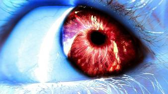 Eyes digital art wallpaper