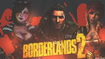 Fan art photomanipulation borderlands 2 moxxi dlc axton wallpaper