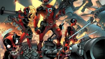 Guns family deadpool wade wilson artwork wallpaper