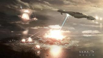 Halo reach spaceships digital art concept artwork wallpaper