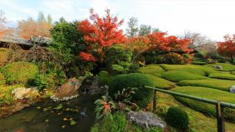 Japan landscapes nature garden zen temple Wallpaper