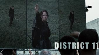 Jennifer lawrence salute the hunger games wallpaper