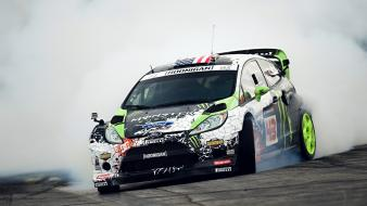 Ken block fiesta monster energy drifting drift wallpaper