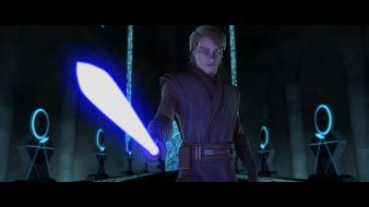 Lightsabers jedi anakin skywalker the prophecy mortis wallpaper