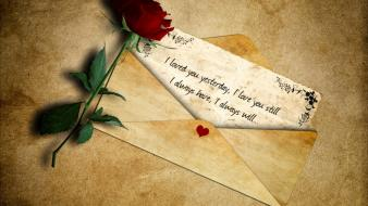 Love note roses special wallpaper