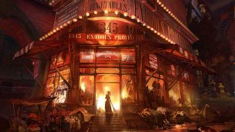 Market fire concept art bioshock infinite columbia wallpaper