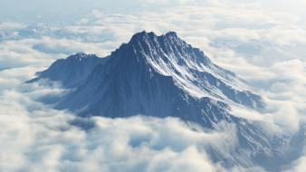 Mountains clouds peak mount olympus wallpaper