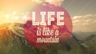 Nature design valley circles typography life manipulations wallpaper
