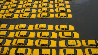 New york city taxi flood jersey hurricane sandy Wallpaper