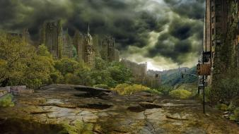Post-apocalyptic apocalypse new york city artwork post apocalyptic Wallpaper
