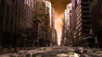 Post-apocalyptic artwork apocalyptic ny wallpaper