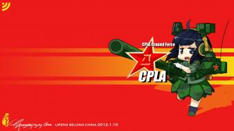 Red background chinese military wallpaper