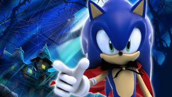 Sonic the hedgehog video games happy halloween wallpaper