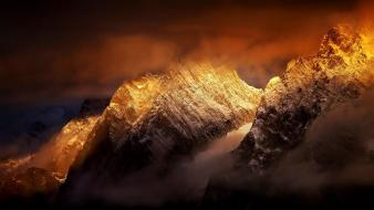 Sunset mountains clouds landscapes nature italy alps geology wallpaper