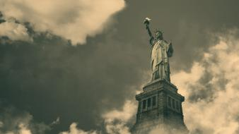 Usa new york city statue of liberty travel wallpaper