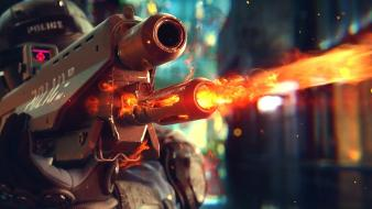 Video games guns bullets gunfire cyberpunk 2077 Wallpaper