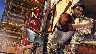 Video games uncharted 2 ps3 highrise victor sullivan Wallpaper