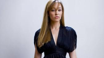 Autumn Reeser Dress wallpaper