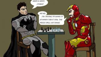 Batman iron man chess vs Wallpaper