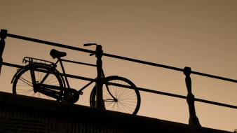 Bike cityscapes bicycles holland Wallpaper
