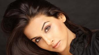 Black brown eyes vidya balan faces indian wallpaper