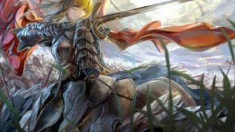 Capes saber fate/zero skyscapes swords fate series wallpaper