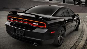 Cars vehicles dodge charger rear view wallpaper