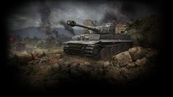 Cityscapes back tigers sparks world of tanks wallpaper