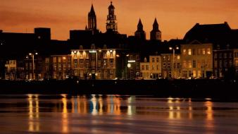 Cityscapes holland maastricht reflections wallpaper