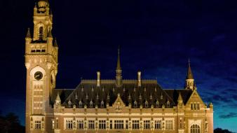 Cityscapes night holland palace wallpaper