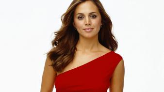 Eliza Dushku Red Dress Wallpaper