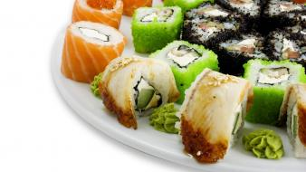 Food japanese sushi cuisine wallpaper