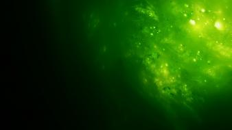 Green abstract digital art artwork senzune wallpaper