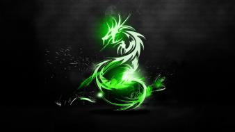 Green dragons wallpaper