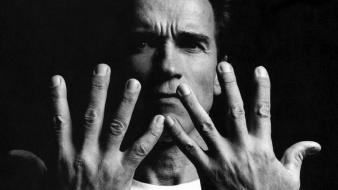 Hands men grayscale arnold schwarzenegger wallpaper