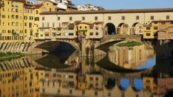 Italy florence ponte vecchio rivers reflections wallpaper