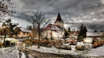 Landscapes winter stare hdr photography Wallpaper