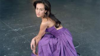 Maggie Quigley Violet Dress wallpaper
