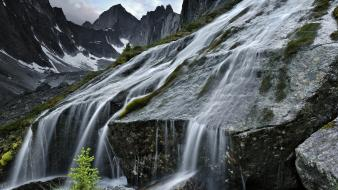 Mountains landscapes waterfalls national park wallpaper