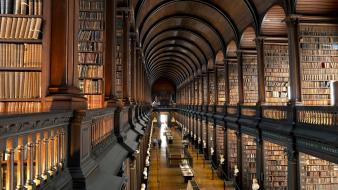 Room trinity library ireland books interior college dublin wallpaper