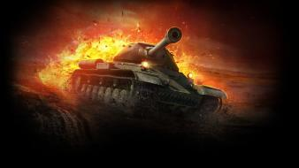 Tanks battles world of is-8 Wallpaper