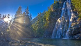 Vancouver british columbia waterfalls creek wallpaper
