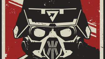 Video games killzone artwork helmets faces wallpaper