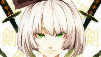 Video games touhou konpaku youmu short hair white wallpaper
