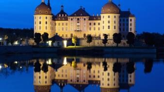 Water castles germany architecture reflections saxony Wallpaper
