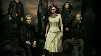 Women music gothic band within temptation metal wallpaper