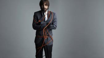 Actors jason schwartzman wires grey background wallpaper