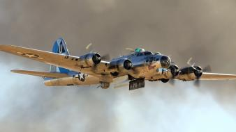Aircraft bomber b-17 flying fortress boeing wallpaper