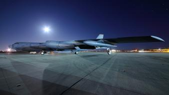 Aircraft night aviation boeing b-52 stratofortress Wallpaper