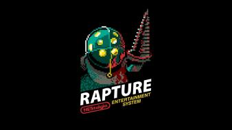Bioshock rapture retro games nes 8-bit game Wallpaper